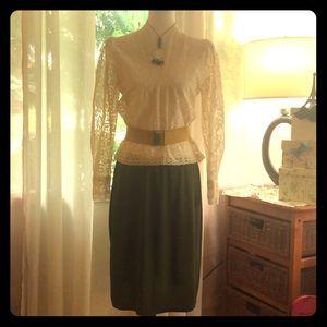 Vintage DALTON,  solid boho lace blouse!! Size sm